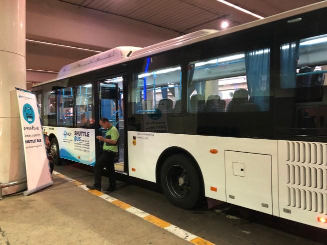 ドンムアン空港からスワンナプーム空港のバス