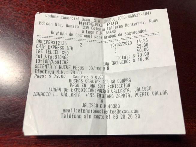 メキシコのSIMカードの料金
