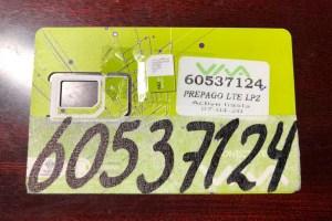 ボリビアのSIMカード