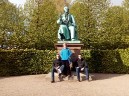 Hans Christian Andersen statue in CPH