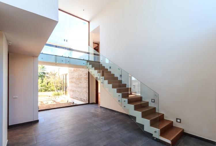 Why You Should Trade Wood In For Glass Balustrade   Glass Balustrade Staircase Cost   Tempered Glass Panels   Stair Treads   Oak Staircase   Curved Glass   Stainless Steel