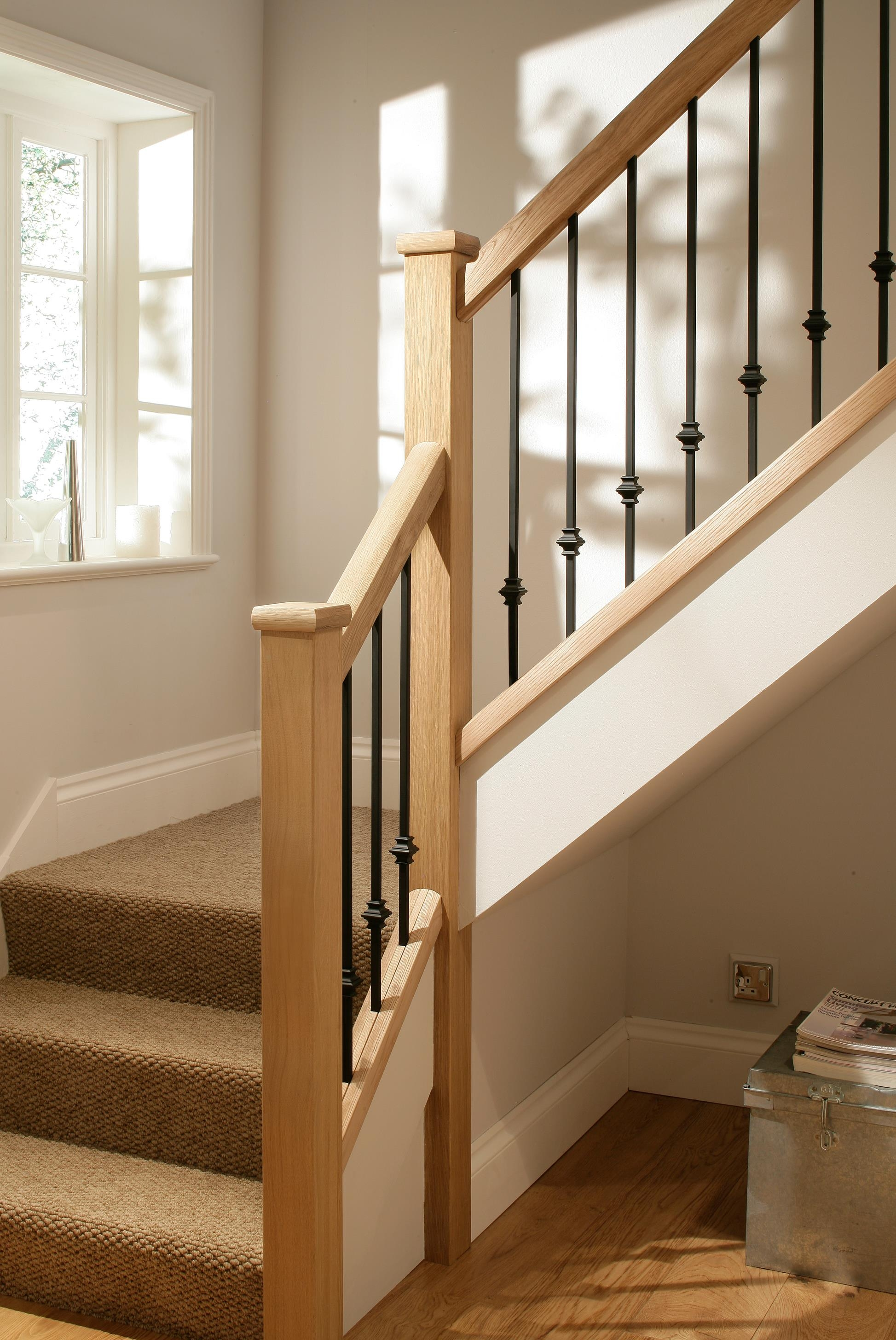Steel Spindles For Stairs Shapeyourminds Com | Black Metal Spindles For Staircase