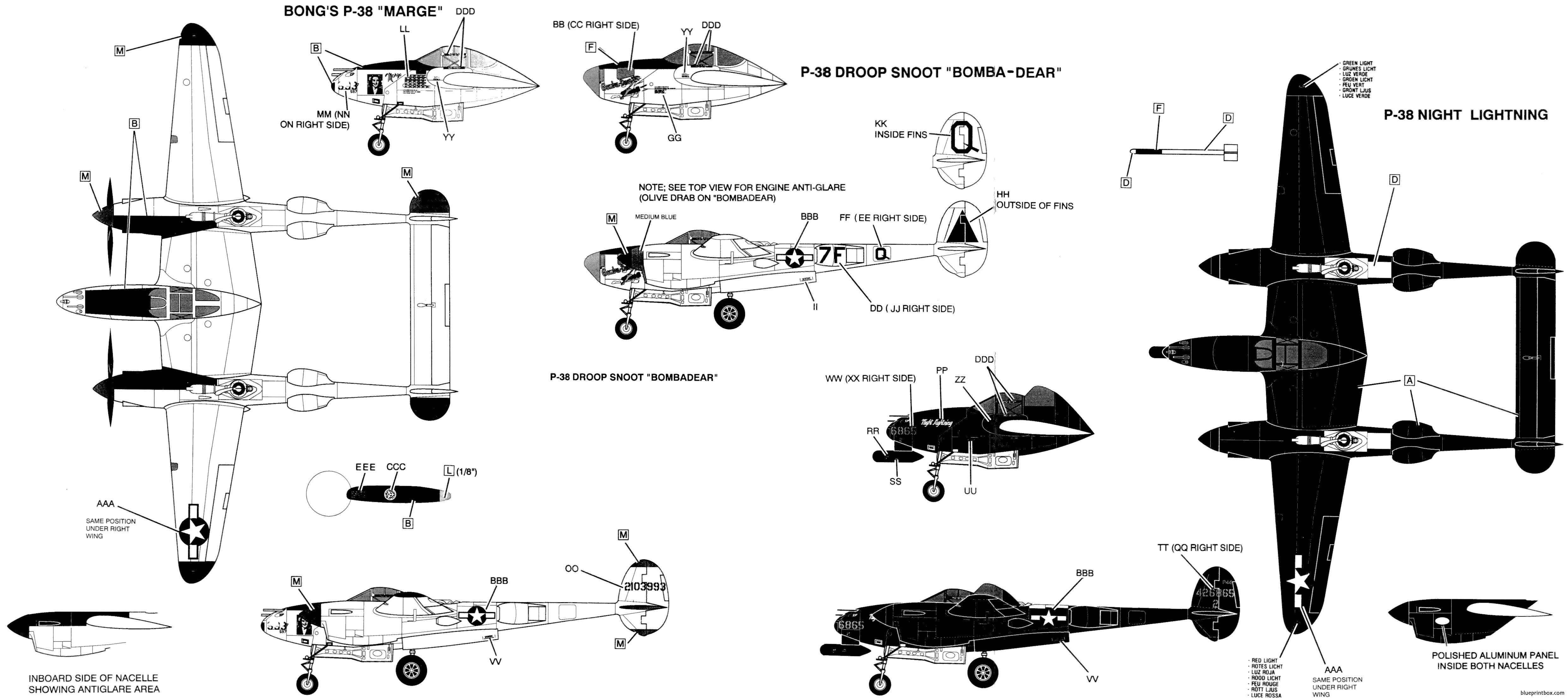 Diagram P 38 Lightning