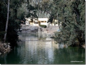 Baptismal area of the Jordan River