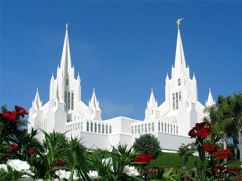 Mormon temple in San Diego... one of many.