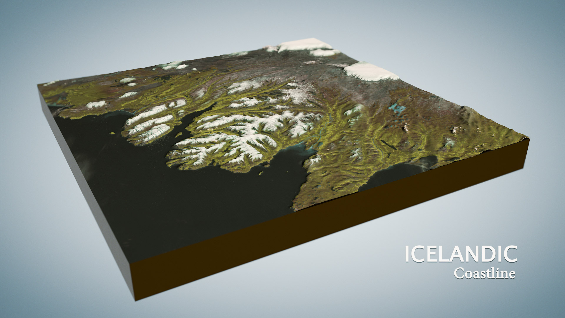 3d map Iceland