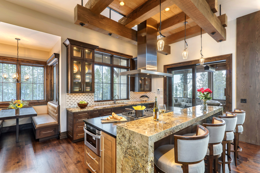 Luxury Mountain House Featuring Modern Elegance and Rustic ... on Luxury Farmhouse Kitchen  id=84590