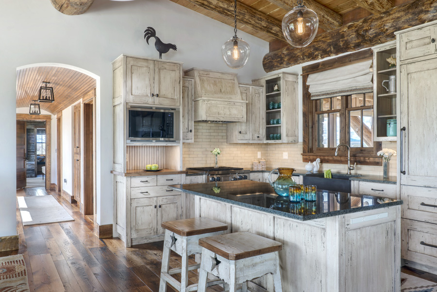 Kitchens and Dining Rooms for Luxury Mountain HomesBlue ... on Luxury Farmhouse Kitchen  id=91884