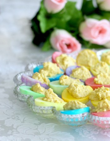 colored deviled eggs easter word press