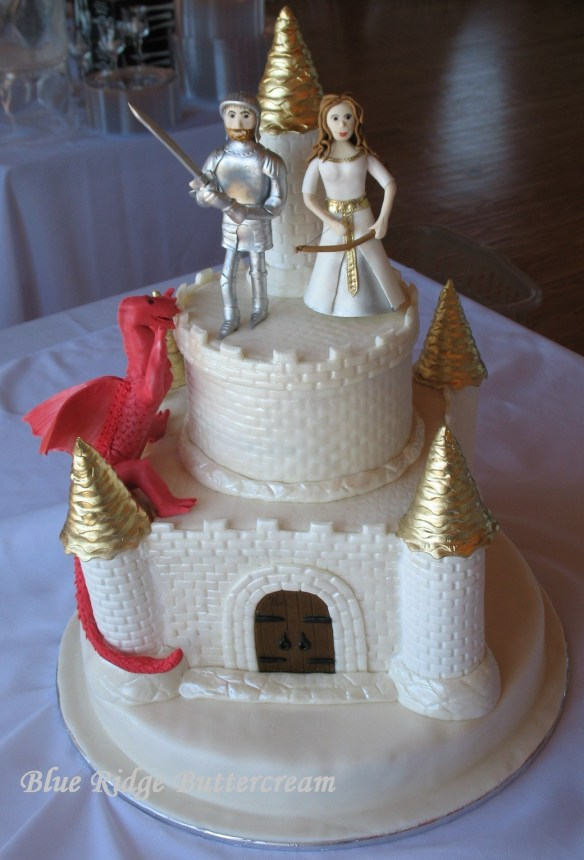 Castle Wedding Cake With Dragon Princess And Knight