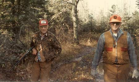A.D. and Doug Harrell hunting