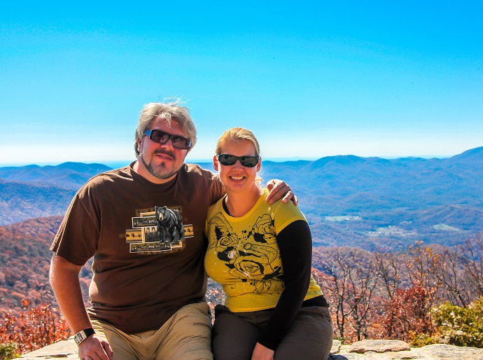 Bret & Mary on Brasstown Bald, Blue Ridge Mountains, GA