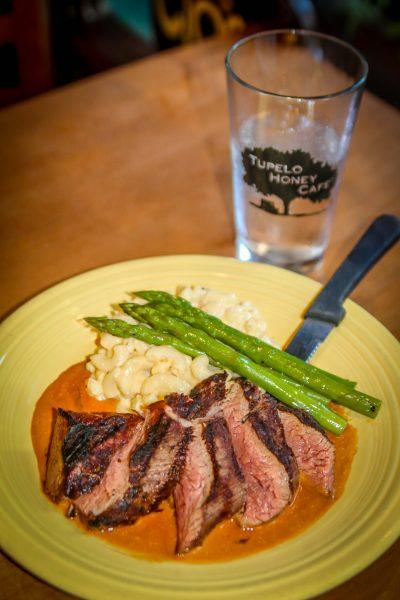 Hanger Steak at Tupelo Honey Cafe in Asheville NC