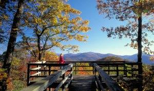 Black Rock Mountain State Park, Blue Ridge Mountains overview