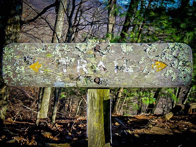 Doughton Park Hiking Trail Sign