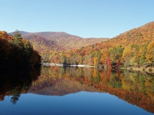 Autumn at Lake Trahlyta in Vogel State Park