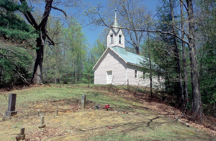 Little Cataloochee Church in Great Smoky Mountains National Park