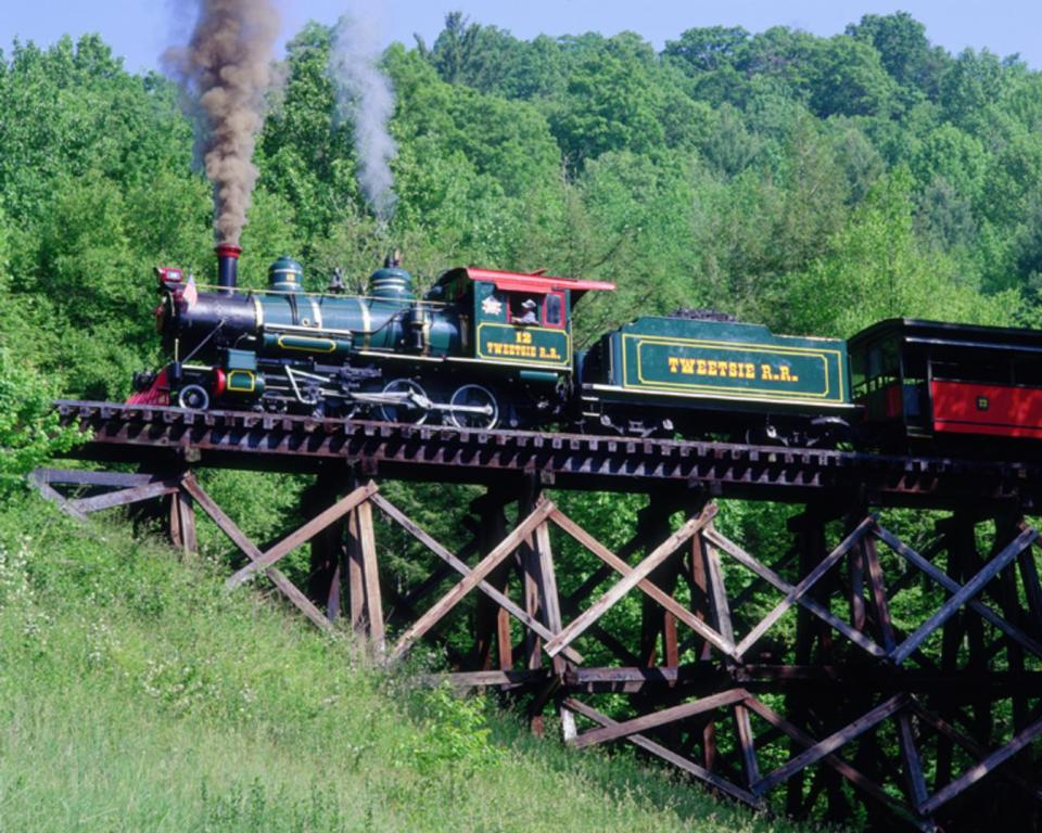 The Tweetsie Train on the Trestle, Boone, NC
