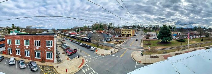 Panorama photo of Downtown Blue Ridge, GA