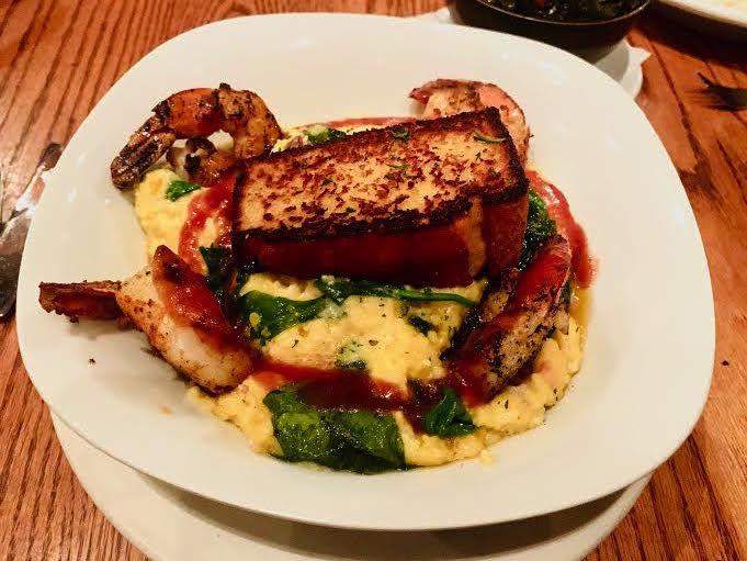 Shrimp & Grits at Harvest on Main Restaurant in Blue Ridge, GA