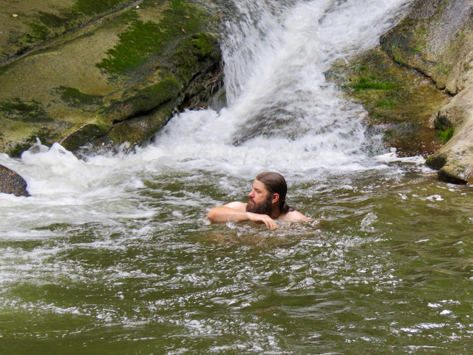 Swimming in Bullhead - Stone Mountain State Park