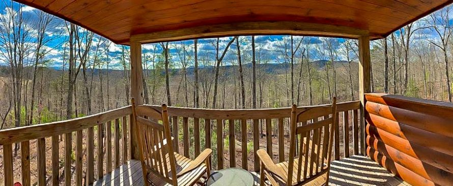 View from Master Suite Balcony at Wood Haven Retreat in Blue Ridge, GA