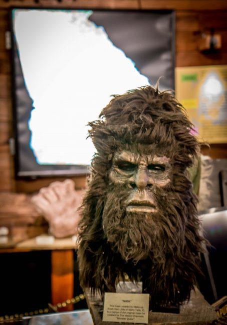 Bigfoot Mask at the Expedition Bigfoot Museum