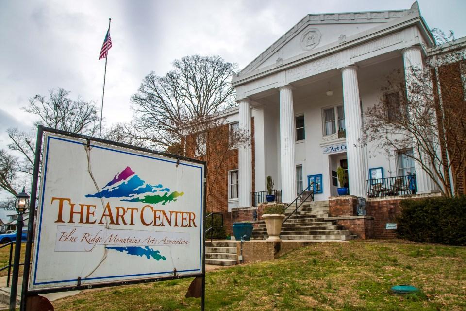 Visiting the Blue Ridge Mountains Arts Association Art Center