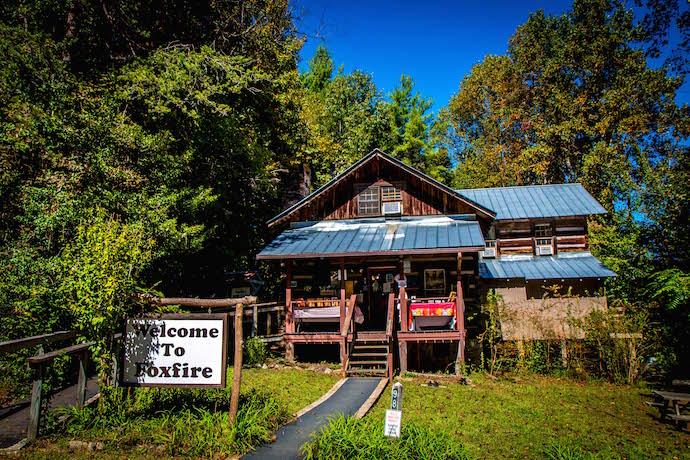 Exterior photo of Foxfire Museum & Heritage Center in Clayton GA