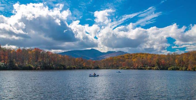 Lake Price in Julian Price Memorial Park, North Carolina
