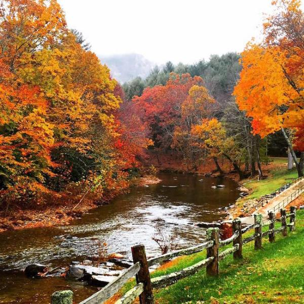 North Carolina's Toe River in Autumn at the Toe River Campground