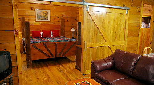 Interior view of Outrigger Cabin near Pisgah National Forest