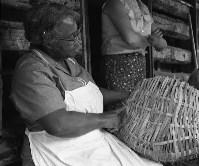 African-American Basket Weaver in North Georgia