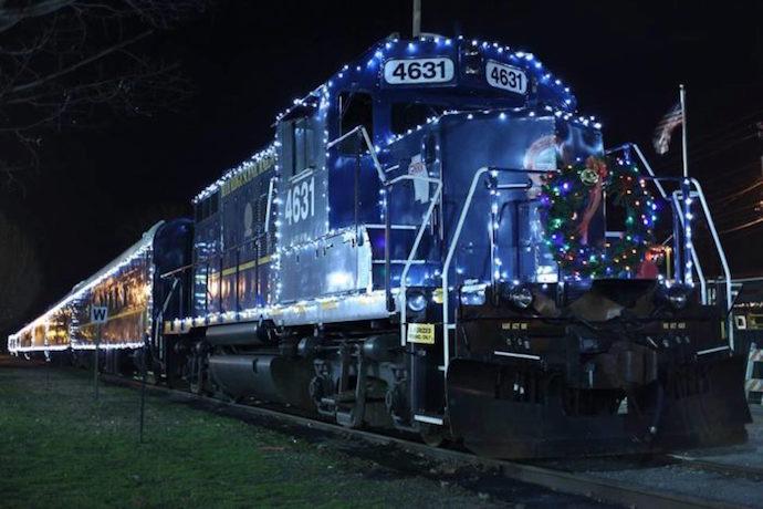 Blue Ridge Scenic Railway in Holiday Lights , part of Christmas in Blue Ridge GA
