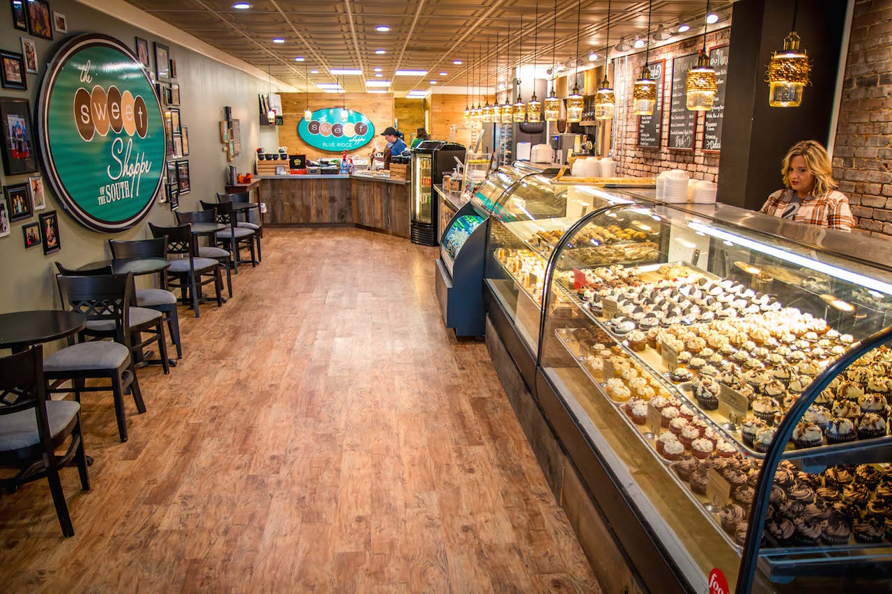 Interior of Sweet Shoppe Bakery in Blue Ridge GA