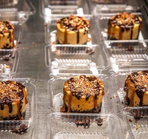 Turtle Cheesecake at Sweet Shoppe Bakery in Blue Ridge GA