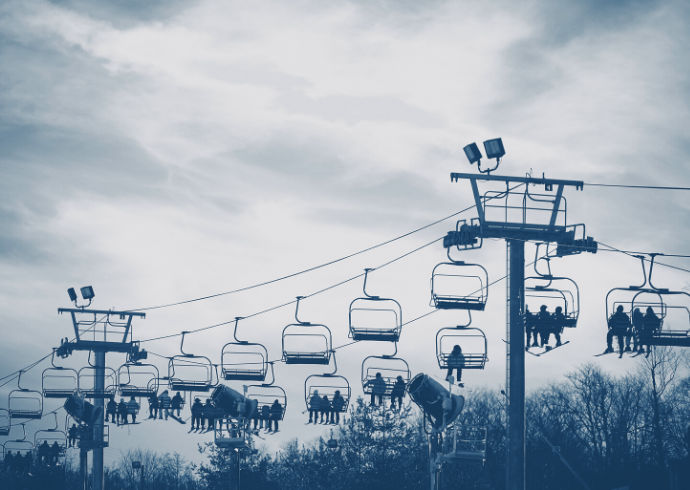 Chair lift - North Carolina Snow Skiing