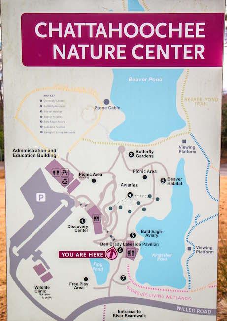 Chattahoochee Nature Center Map
