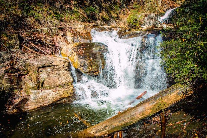 Dukes Creek Falls near Helen GA