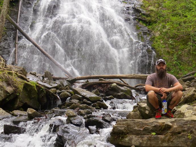 How to Get to Crabtree Falls - Sitting Rocks below Crabtree Falls