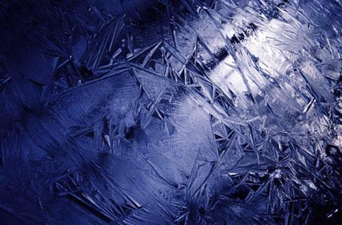 Frozen ground near Sandy Flats Road in Floyd County