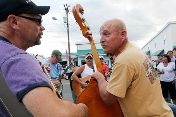 Music in the Streets in Floyd on a Friday Night