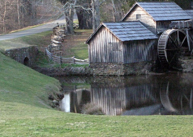 Mabry Mill:  Still open and still popular.