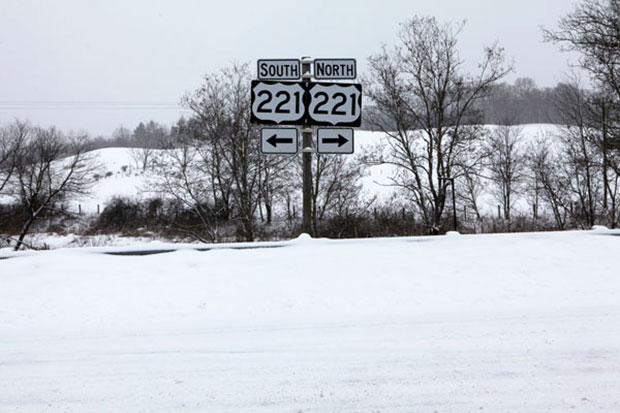 U.S. 221 North of Floyd.