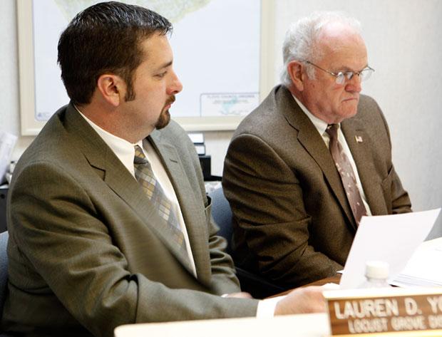 Supervisors Lauren Yoder (Locust Grove) and Joe Turman (Burks Fork)