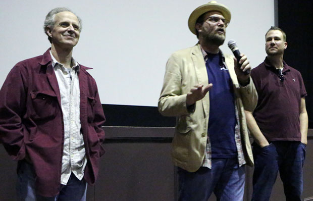 "Rob Neukirch, Blu de Golyer and Bo Keister discuss the film and take questions from the audience after the screening of ""House of Good and Evil"" in Roanoke Saturday night."