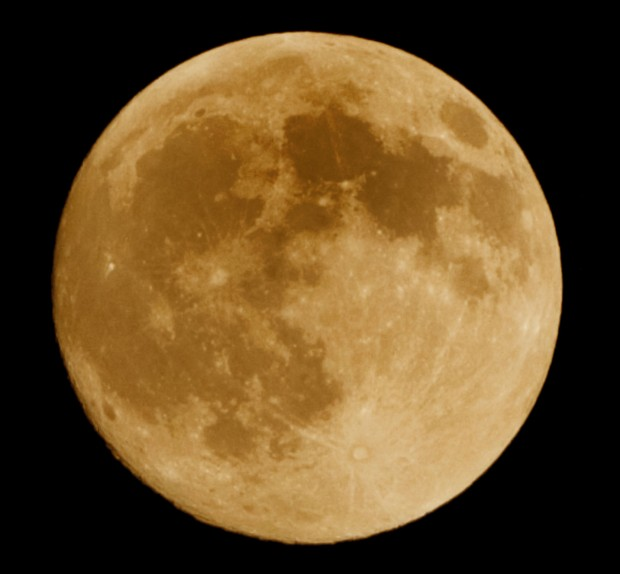 The supermoon on display on July 12, 2014
