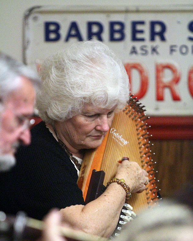Janet Turner performing in The Floyd Barber Shop