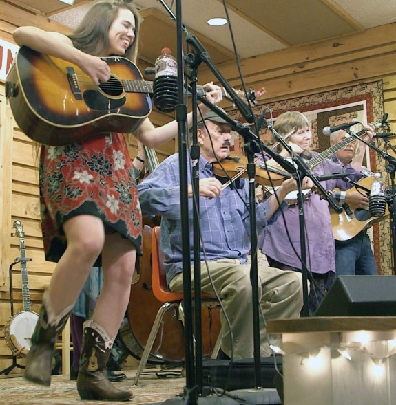 The Whitetop Mountain Band at The Floyd Country Store on Saturday night.