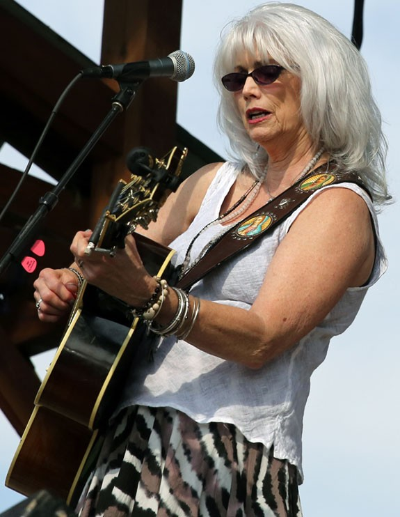 Emmylou Harris on stage Sunday.
